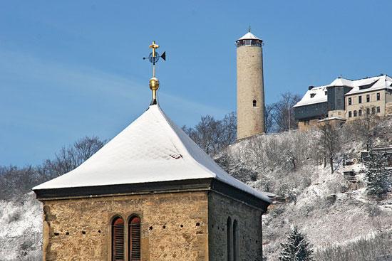 Blick von Ziegenhain zum Fuchsturm