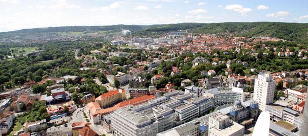 Blick auf Jenas Innenstadt
