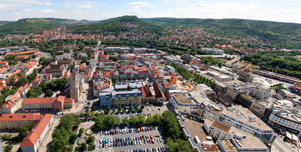 Blick auf Jena vom JenTower
