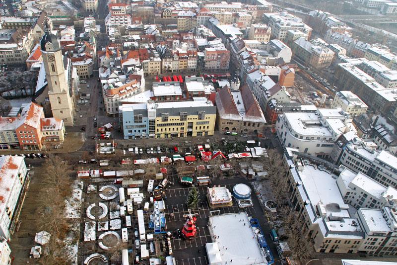Eichplatz im Winter