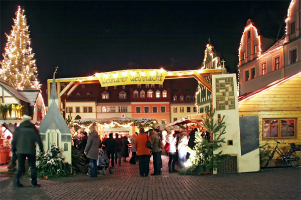 Der Weihnachtsmarkt von Weimar
