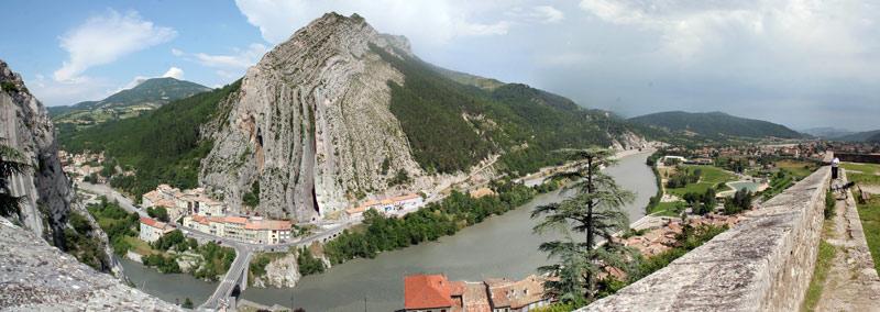 Panoramablick auf Sisteron